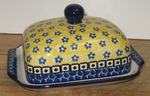 "**OUT OF STOCK**  Butter Dish <BR> Euro 	<BR>	859~Sunburst<br>	<small> 5' x 6 3/4"""" x 3 1/2""""high </small>"