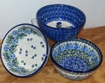 3 Small Bowls <BR> SAVE 15%<BR> Blue Mix