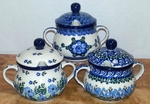 3 SUGAR BOWLS (blue)<br>SAVE 10%