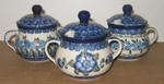 3 SUGAR BOWLS <br>SAVE 10%  <br><b> PATTERNS MAY VARY FROM SHOWN </b>