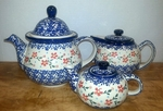 3 Teapots (7c, 3c., 1.75c) <BR>SAVE 15% <BR>Red Posies