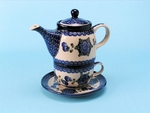 Tea Time for One	<br>	163a ~ Blue Poppy<br>	7.25H X 3.25W