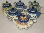 6 SMALL TEAPOTS (14 OZ) <br> SAVE 10% <br><b> PATTERNS MAY VARY FROM SHOWN </b>