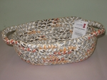 Bread Basket w/Handles <Br> Braided Fabric