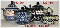 COFFEE & TEA <br> MUGS / TEAPOTS <br>SUGAR&CREAMERS