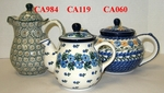 Group of 3 Different Teapots <BR>SAVE 10% <BR> Patterns will vary