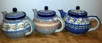 Group of 3 Large Teapots <BR>5 cups<BR> Save 10%<BR>Golds, as shown