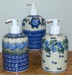 Group of 3 Soap/Lotion Dispensers<BR> SAVE 10%<BR> Blue Mix (as shown)