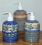 Group of 3 Soap/Lotion Dispensers<BR> SAVE 10%<BR> Gold Mix