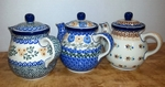 Group of 3 Teapots (2.5cup)<BR> SAVE 10%<BR> Golds, as shown