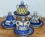 "GROUP OF 4 MINI (4"")  CHEESE LADIES <br> VARIOUS PATTERNS <BR> SAVE 10%"