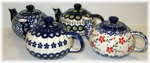 Group of 4 Personal Size Teapots (1.75 cups) <BR>SAVE 15%<BR> choose your patterns