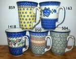Group of 5 (16 oz) Mugs <BR> Save 10% <BR>choose patterns
