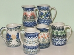 GROUP OF 6 MINI JUGS/<br>TOOTHPICK HOLDERS / SAVE 10% <BR> Various Patterns