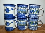 Group of 6 Mugs <BR> 2 each / Blues <BR> SAVE 10%