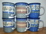 Group of 6 Mugs <BR> 2 each gold ptns <BR> SAVE 10%