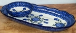 Scalloped Tray & Bowl <BR>2 pcs/SAVE 15%<BR> Blue Poppy