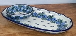 Scalloped Tray & Bowl <BR>2 pcs/SAVE 15%<BR> Periwinkle