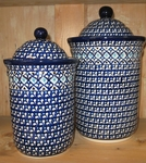 Set of 2 Canisters <BR> 5.5 & 8 cups<BR> India