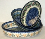 SET OF 3 OVAL BAKERS <BR> (Small, Medium & Large) <BR>SAVE  10% <BR> Patterns may vary