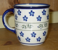 "**OUT OF STOCK** Order now for delivery in January <BR> MUG (12oz) -  <br> Aqua  Floral <Br> (4"")"