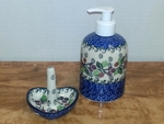 Soap/Lotion Dispenser & Ring Holder <BR> SAVE $9 <bR> Burgundy Berries