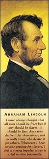 Abraham Lincoln Bookmark