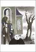 Addams Family Exhibition Poster Notecard