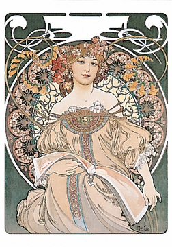 Alphonse Mucha Boxed Notecards