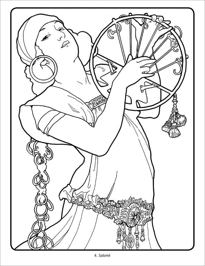 - Alphonse Mucha Coloring Pages
