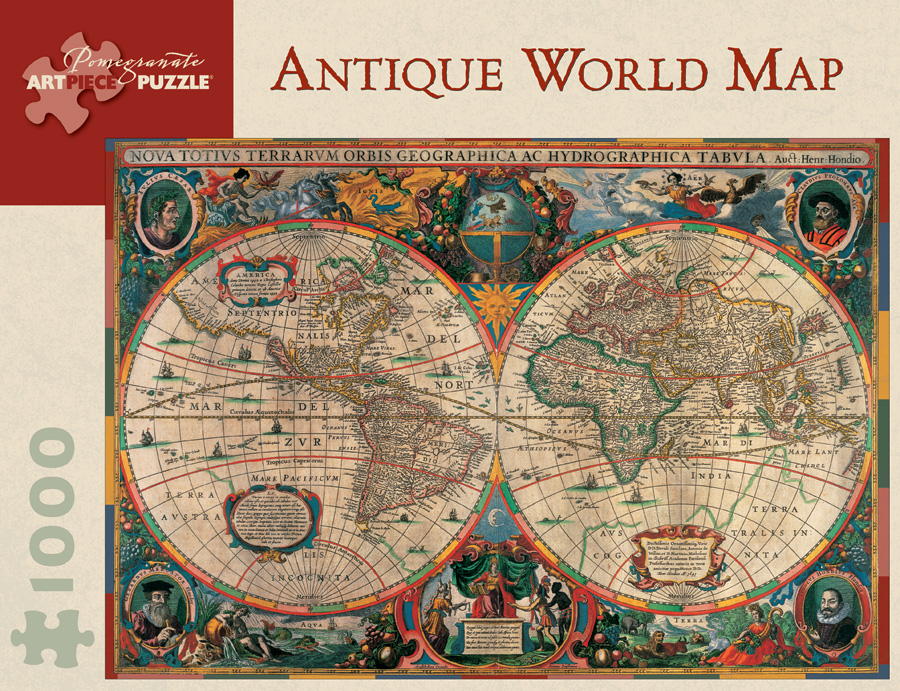 Antique World Map 1000piece Jigsaw Puzzle – Map World Puzzle