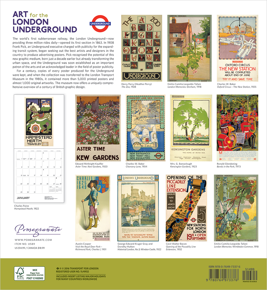 Art for the London Underground