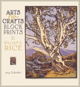 Arts & Crafts Block Prints By William S. Rice 2014 Wall Calendar