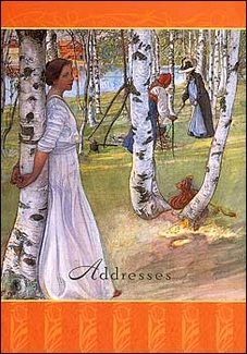 Carl Larsson Pocket Address Book