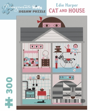 Cat and House 300-piece Jigsaw Puzzle