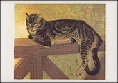 Cat on a Balustrade (Summer) Magnet