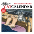 CatCalendar: B. Kliban 2016 Sticker Wall Calendar
