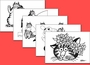 Cats: B. Kliban Coloring Cards