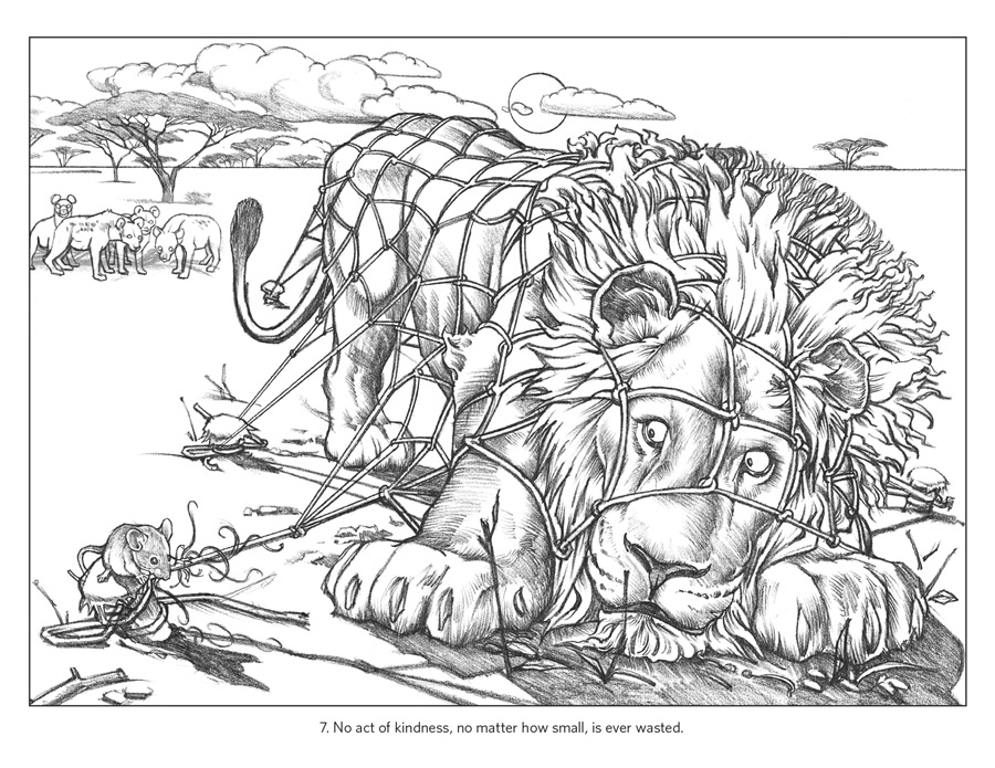aesop fable coloring pages - photo#16