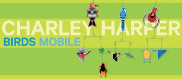 Charley Harper Birds Mobile