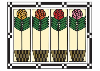 Checkerpot Roses Postcard