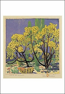 Cholla and Saguaro Postcard