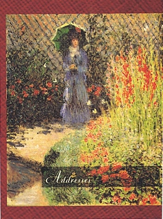 Claude Monet Gladioli Pocket Address Book