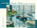 Claude Monet: Sailboats on the Seine 1000-Piece Jigsaw Puzzle