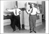 Coolidge & Gillett Exercising Postcard