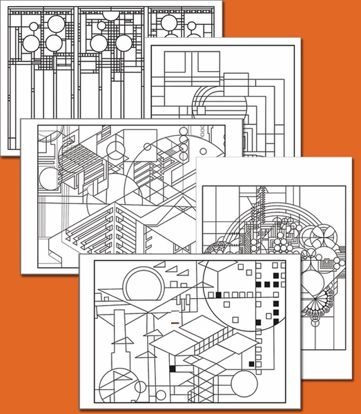 Free Coloring Pages Frank Lloyd Wright Coloring Pages
