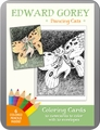 Edward Gorey: Dancing Cats Coloring Cards