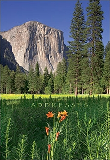 El Capitan, Yosemite Pocket Address Book