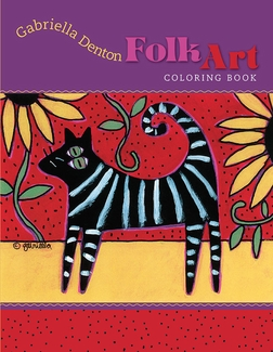 Folk Art: Gabriella Denton Coloring Book