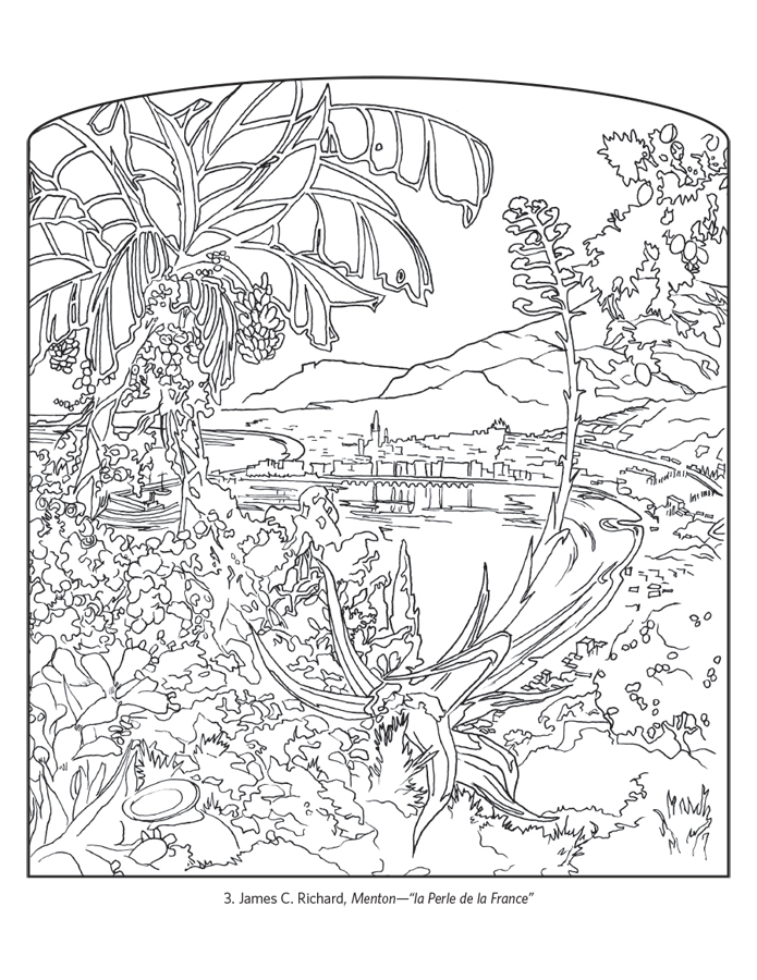 France Travel Posters Coloring Book Coloring Posters